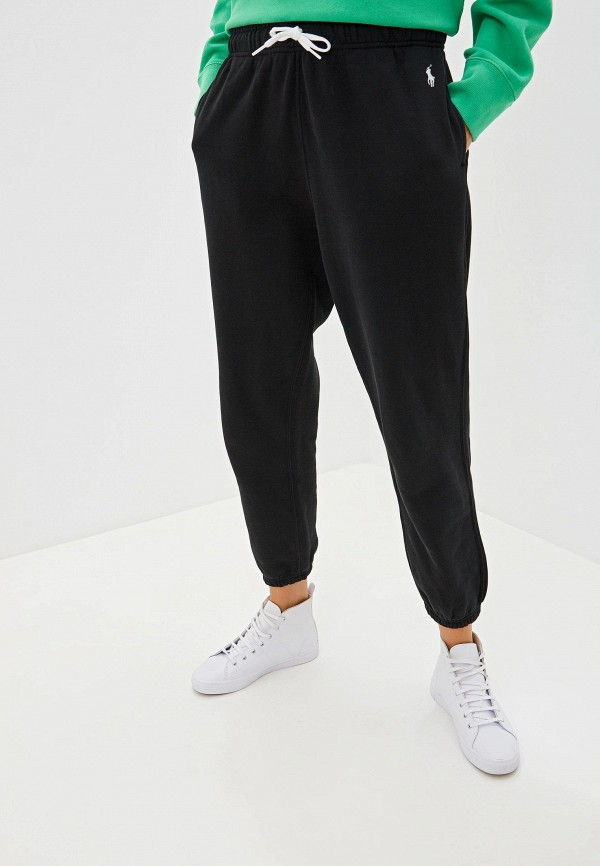 женские спортивные спортивные брюки polo ralph lauren, черные