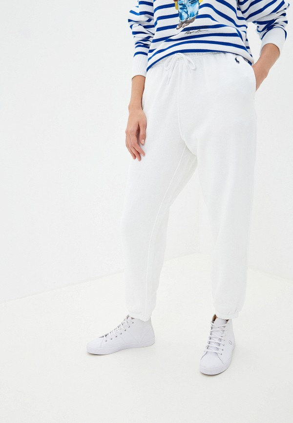 женские спортивные спортивные брюки polo ralph lauren, белые