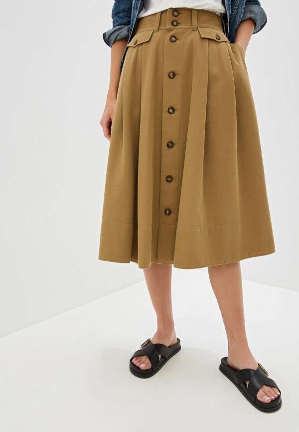 женская юбка polo ralph lauren, хаки