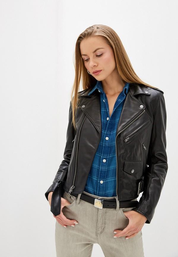 женская куртка polo ralph lauren, черная