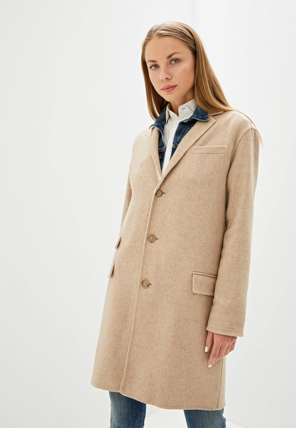 женское пальто polo ralph lauren, бежевое
