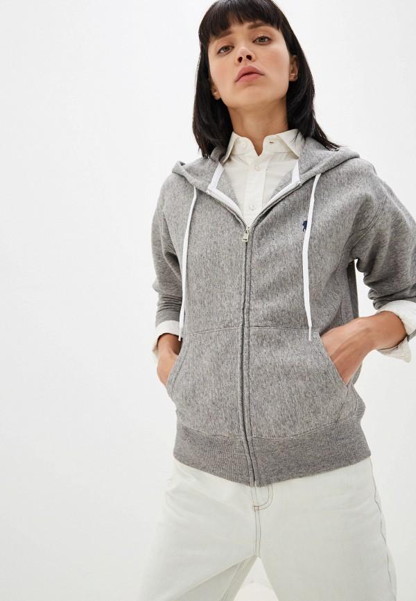 женская футболка polo ralph lauren, серая
