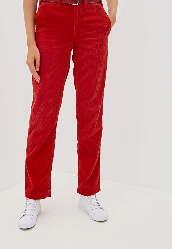 женские повседневные брюки polo ralph lauren, красные