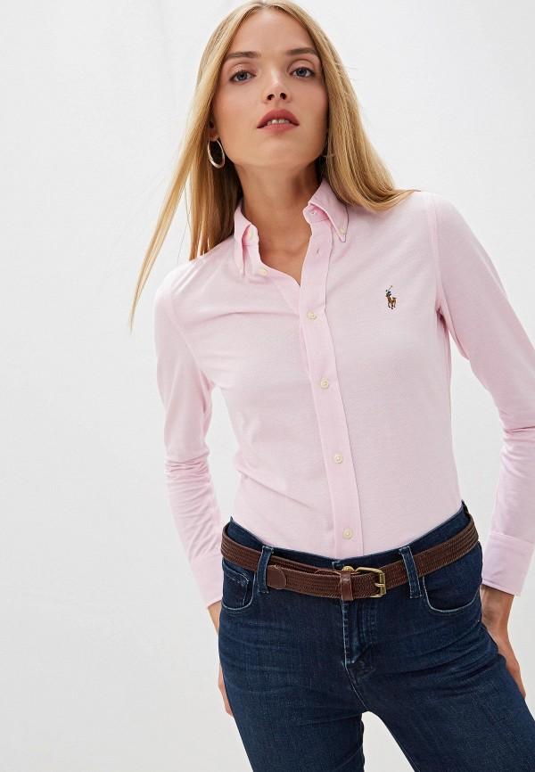 женская рубашка polo ralph lauren, розовая