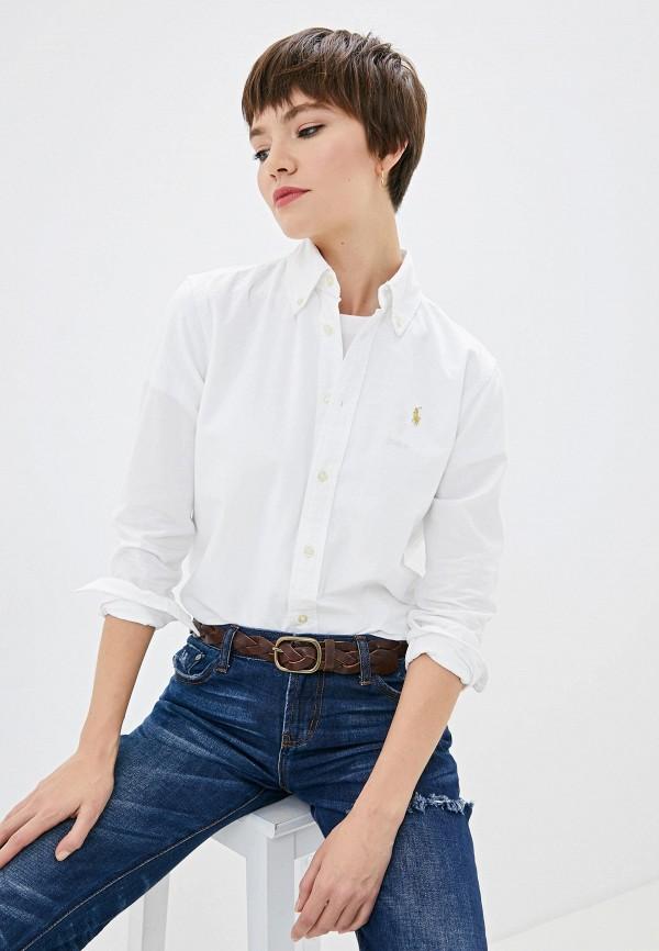 Фото - женскую рубашку Polo Ralph Lauren белого цвета