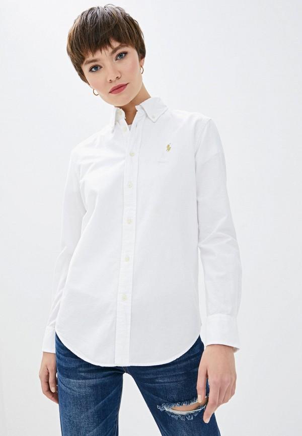 Фото 2 - женскую рубашку Polo Ralph Lauren белого цвета