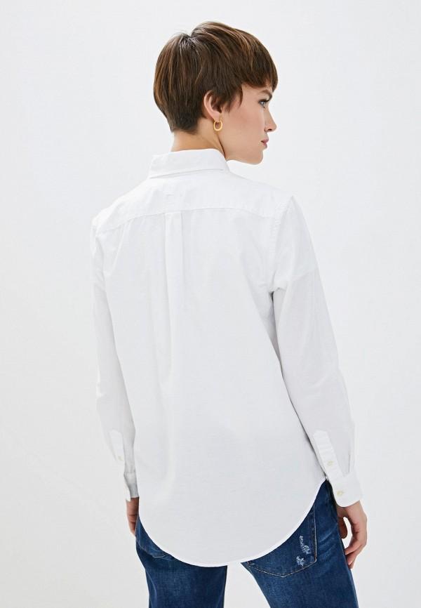 Фото 4 - женскую рубашку Polo Ralph Lauren белого цвета