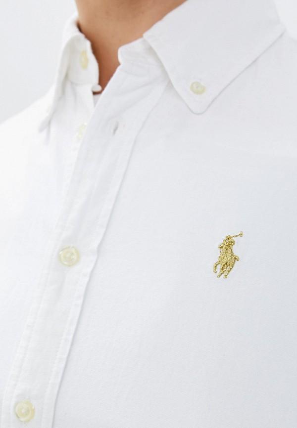 Фото 5 - женскую рубашку Polo Ralph Lauren белого цвета