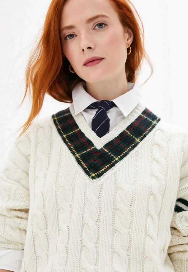 Фото 2 - женский пуловер Polo Ralph Lauren белого цвета