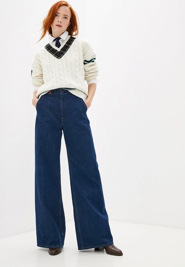 Фото 3 - женский пуловер Polo Ralph Lauren белого цвета