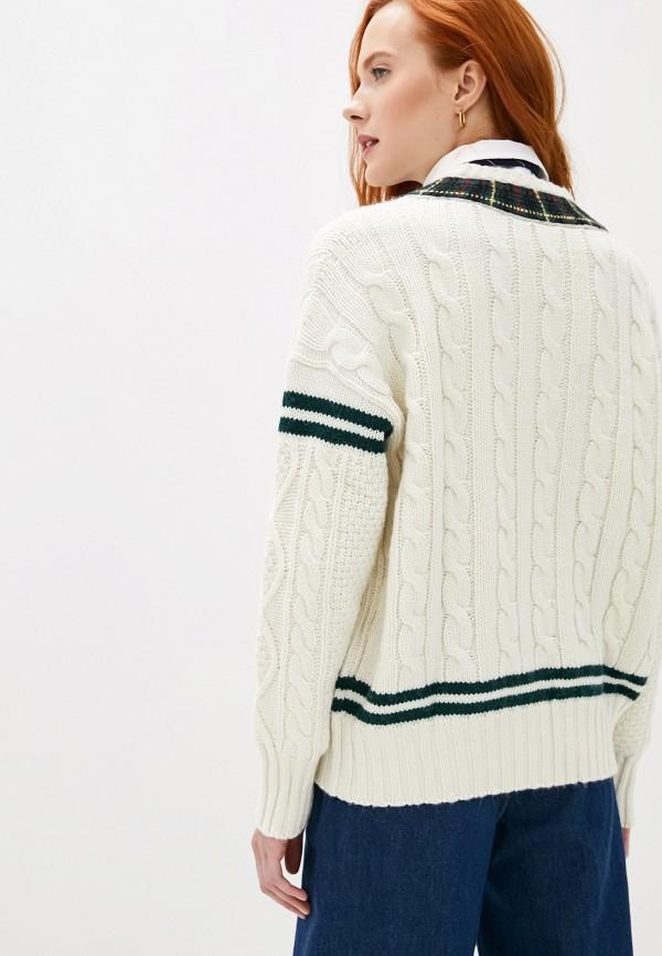 Фото 4 - женский пуловер Polo Ralph Lauren белого цвета