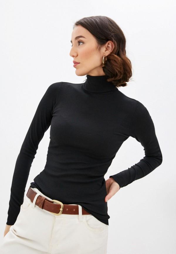 женская водолазка polo ralph lauren, черная