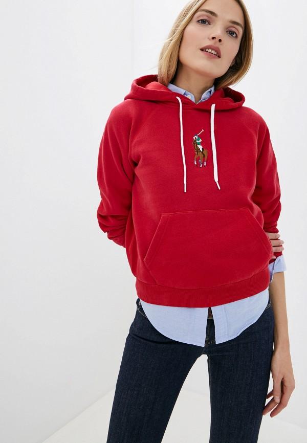 женские худи polo ralph lauren, красные