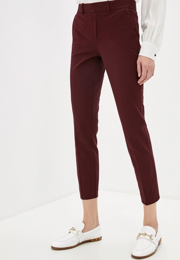 женские классические брюки polo ralph lauren, бордовые