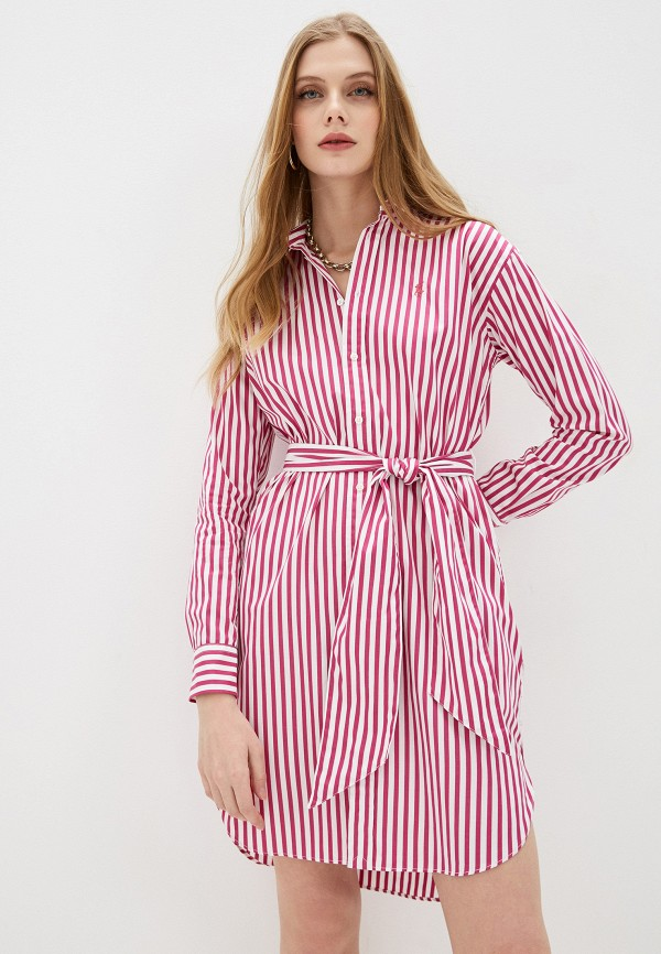 женское платье-рубашки polo ralph lauren, розовое