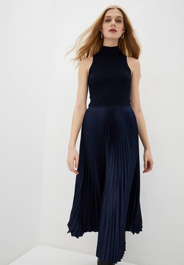 женское платье мини polo ralph lauren, синее