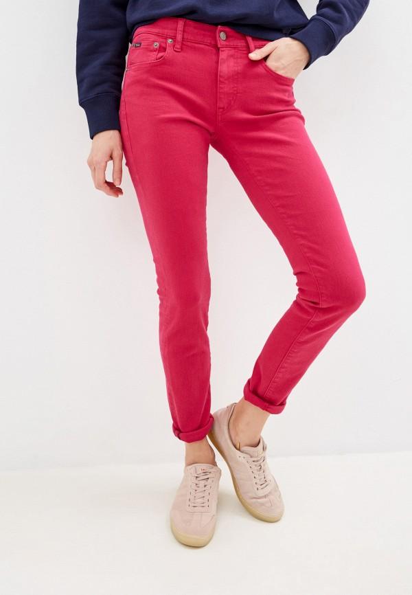женские классические брюки polo ralph lauren, розовые