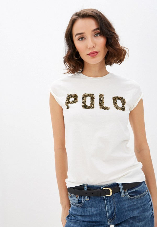 женская футболка polo ralph lauren, белая