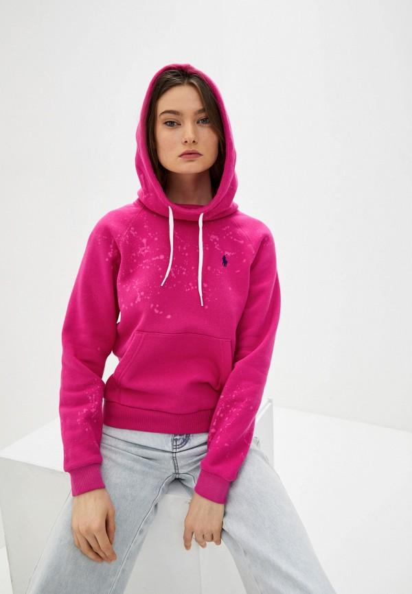женские худи polo ralph lauren, розовые