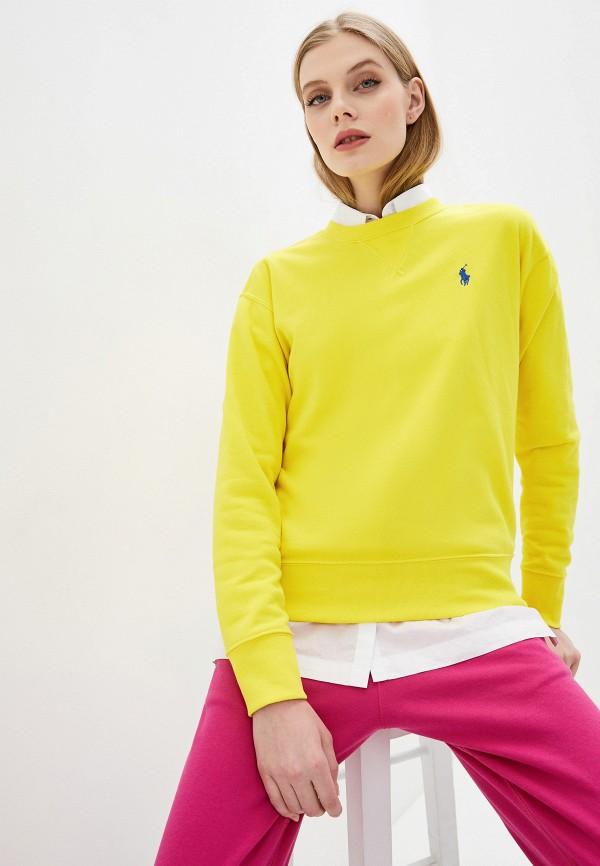 женский свитшот polo ralph lauren, желтый