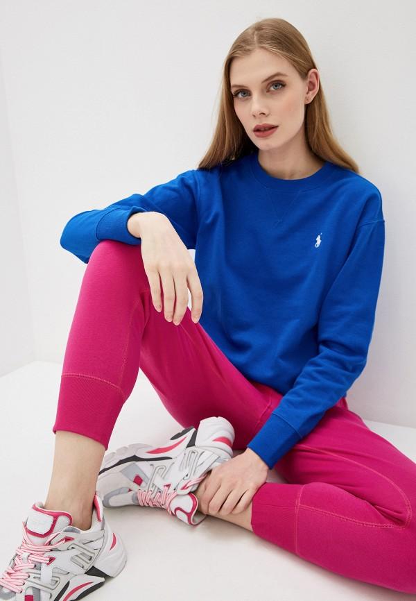 женский свитшот polo ralph lauren, синий