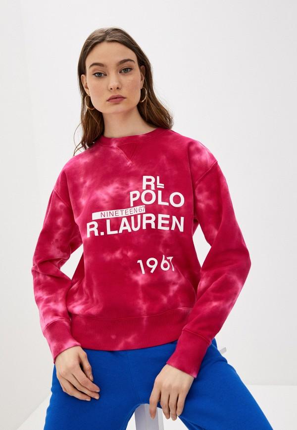 женский свитшот polo ralph lauren, розовый