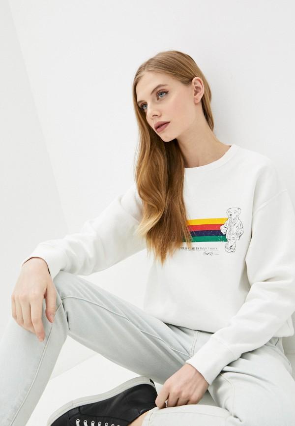 женский свитшот polo ralph lauren, белый