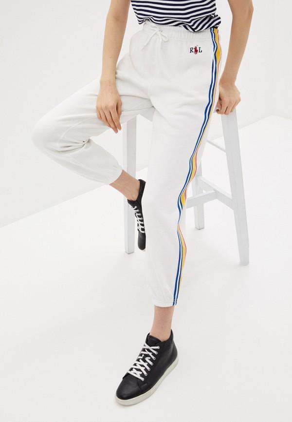 женские спортивные брюки polo ralph lauren, белые