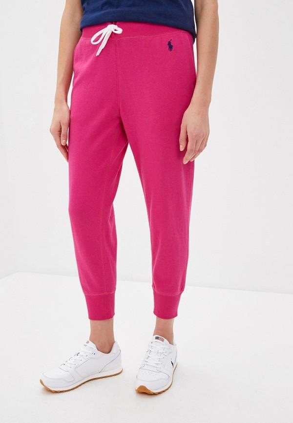 женские спортивные брюки polo ralph lauren, розовые