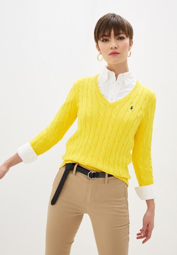 женский пуловер polo ralph lauren, желтый