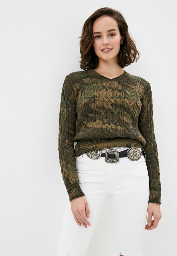 женский пуловер polo ralph lauren, хаки