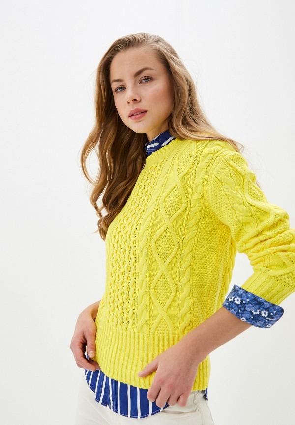 женский джемпер polo ralph lauren, желтый
