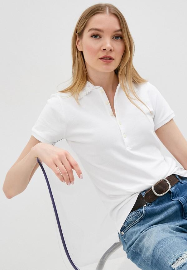 женское поло polo ralph lauren, белое