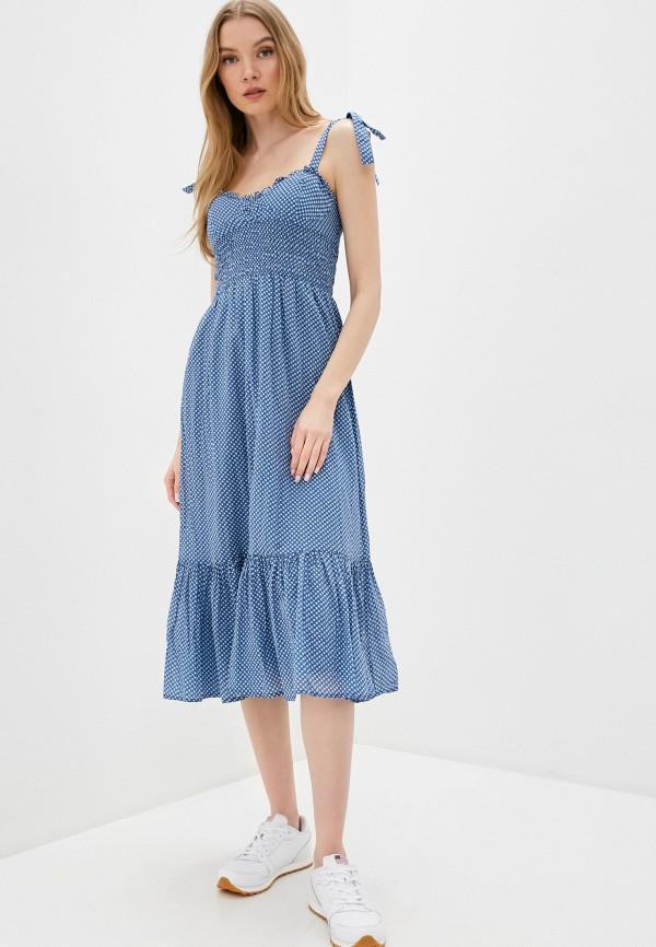 женский сарафан polo ralph lauren, синий
