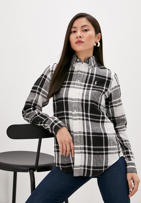женская рубашка с длинным рукавом polo ralph lauren, разноцветная