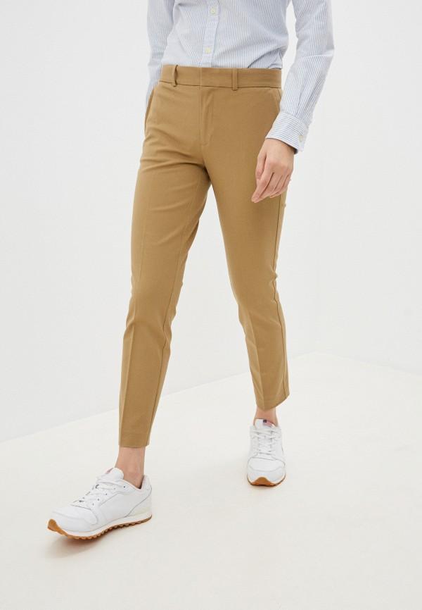 женские повседневные брюки polo ralph lauren, бежевые