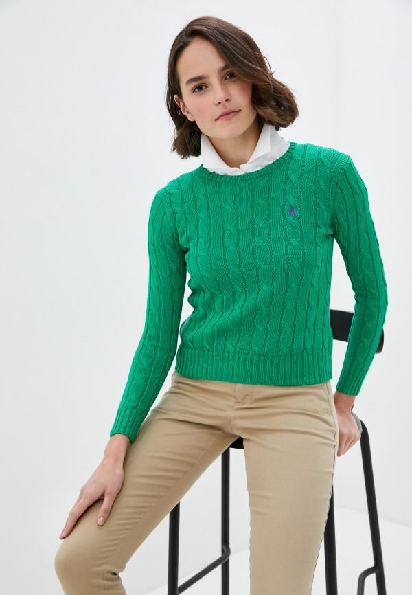женский джемпер polo ralph lauren, зеленый