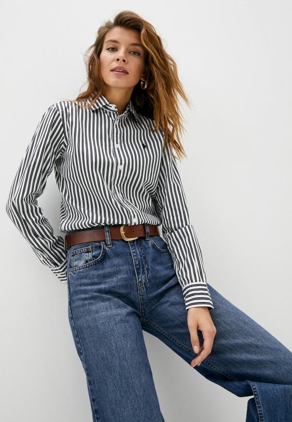 женская рубашка с длинным рукавом polo ralph lauren, черная