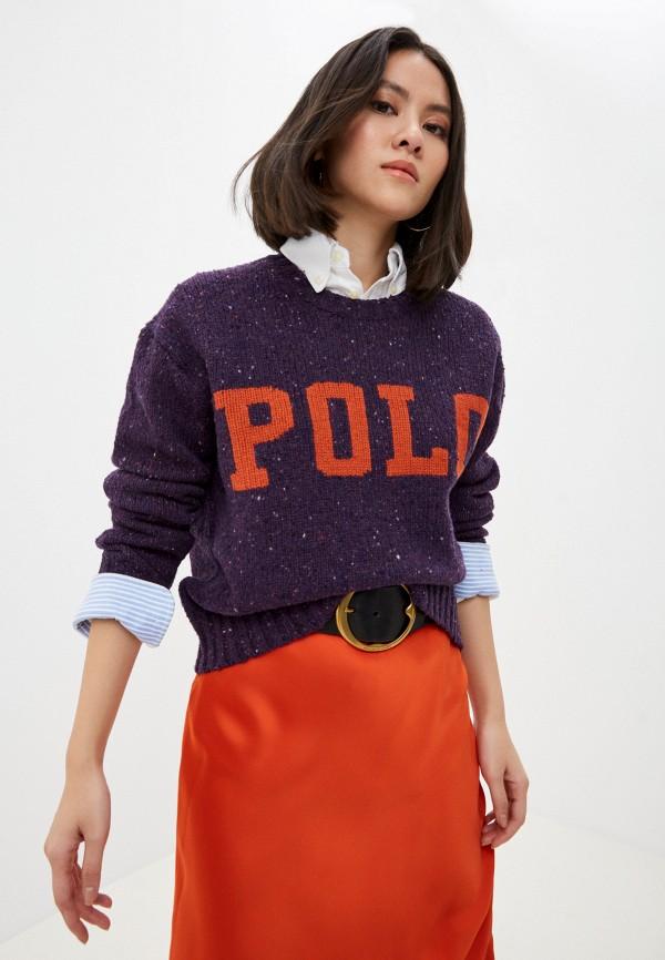женский джемпер polo ralph lauren, фиолетовый
