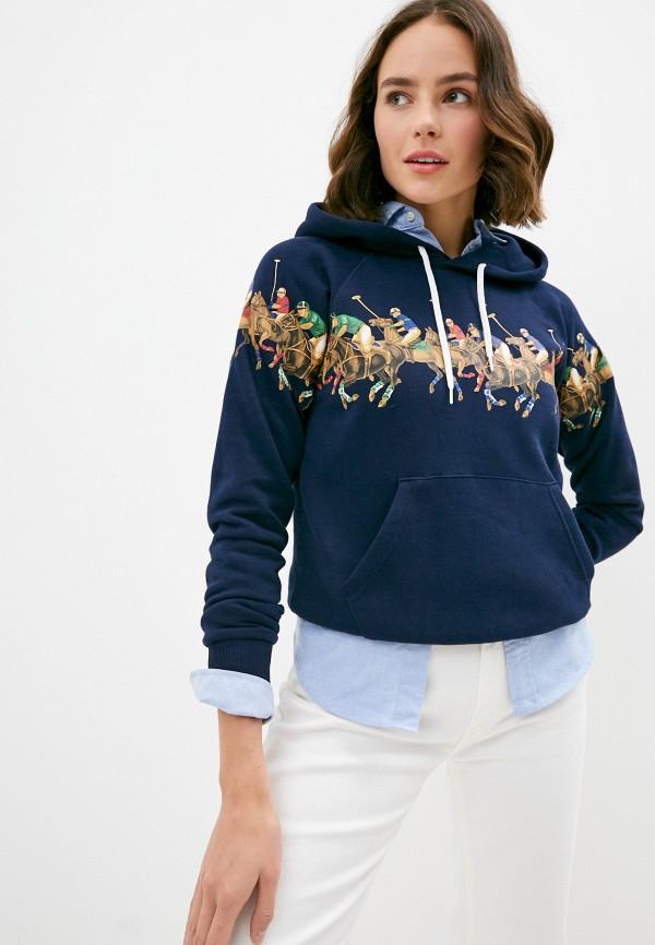 женские худи polo ralph lauren, синие