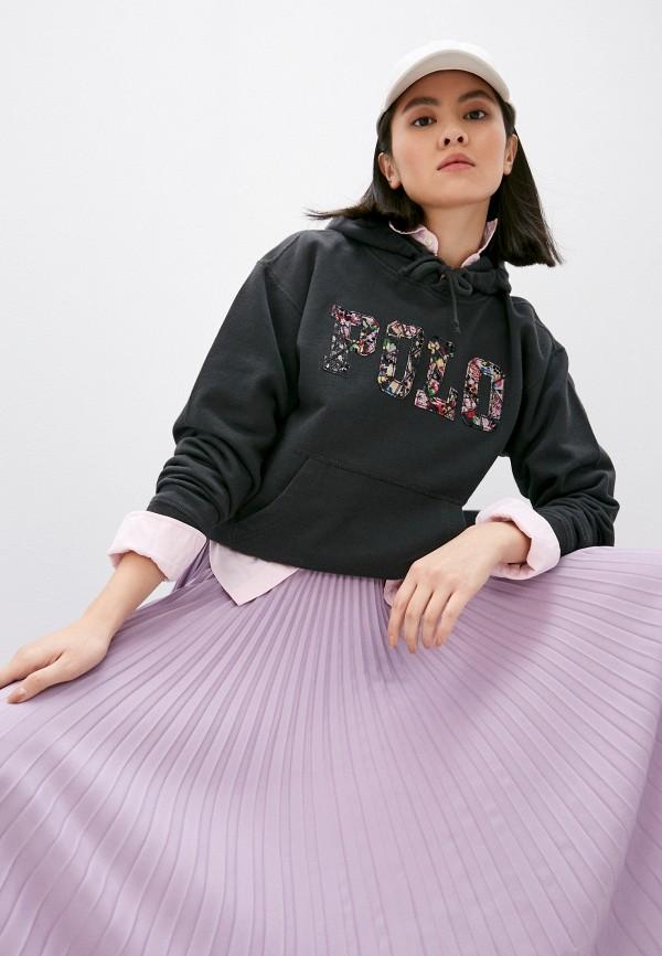 женские худи polo ralph lauren, серые