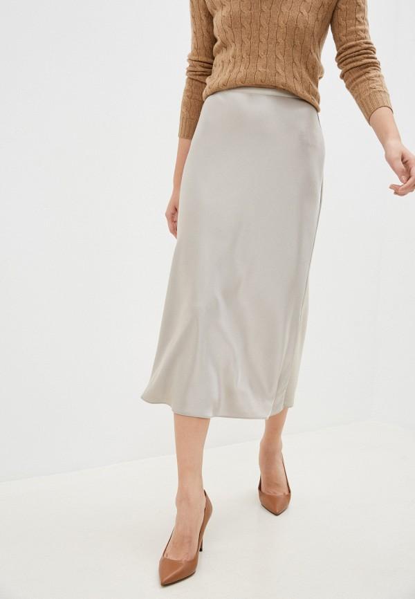 женская юбка polo ralph lauren, серая