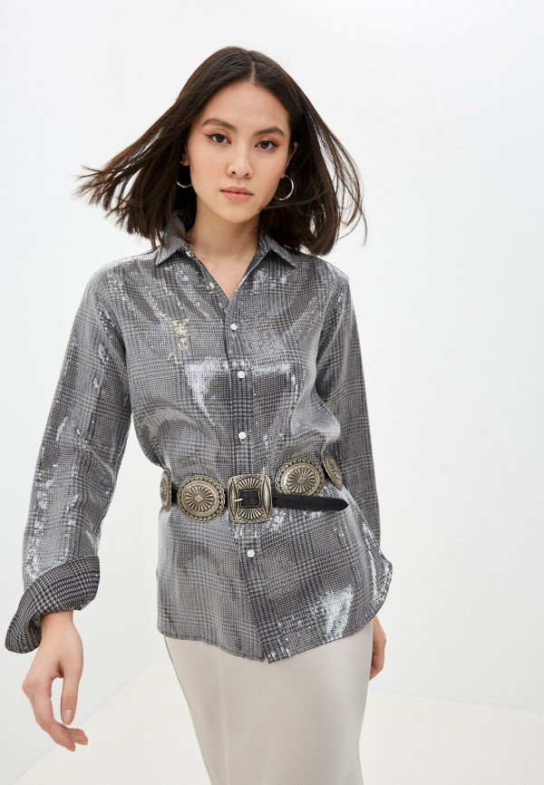 женская блузка polo ralph lauren, серая