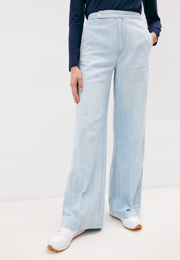 женские джинсы клеш polo ralph lauren, голубые