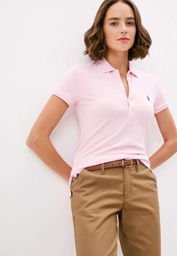 женское поло polo ralph lauren, розовое