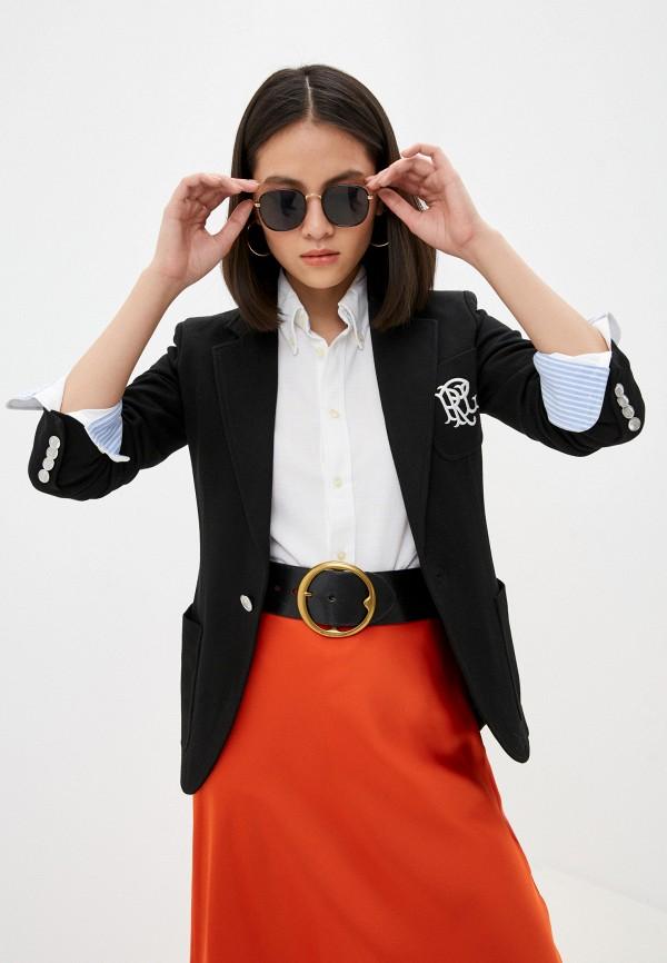 женский пиджак polo ralph lauren, черный