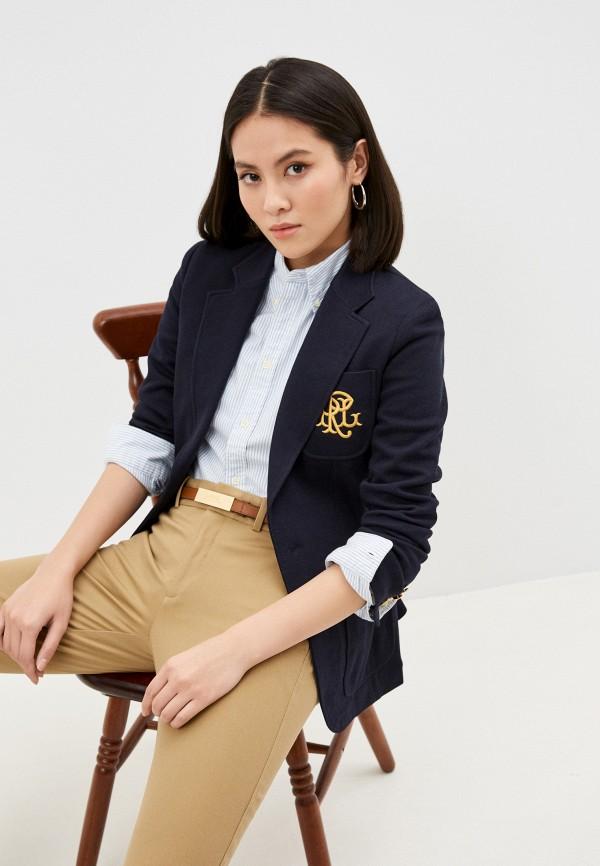 женский пиджак polo ralph lauren, серый