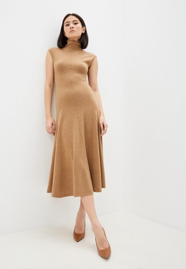 женское платье polo ralph lauren, коричневое