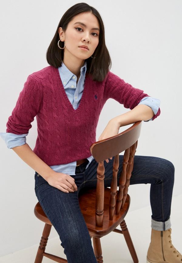 женский пуловер polo ralph lauren, розовый