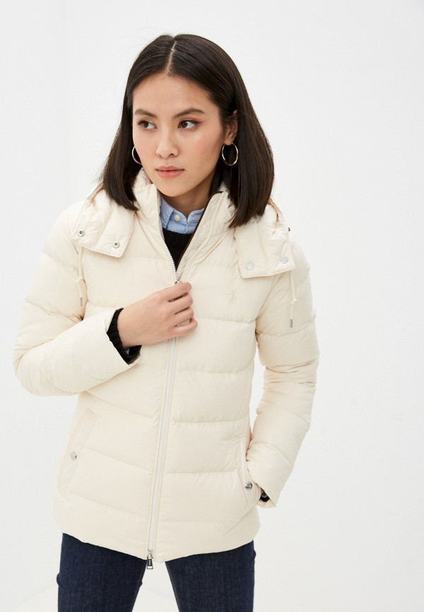 женская куртка polo ralph lauren, бежевая